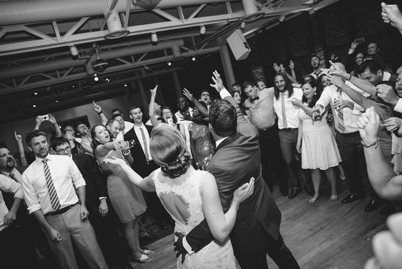 wedding send-off with final dance/sing-a-long