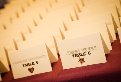 Wedding photography, Star Wars themed place cards.