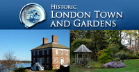 Historic London Town & Gardens logo. 13 Best Baltimore Wedding Venues.