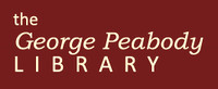 George Peabody Library logo. 13 Best Baltimore Wedding Venues.